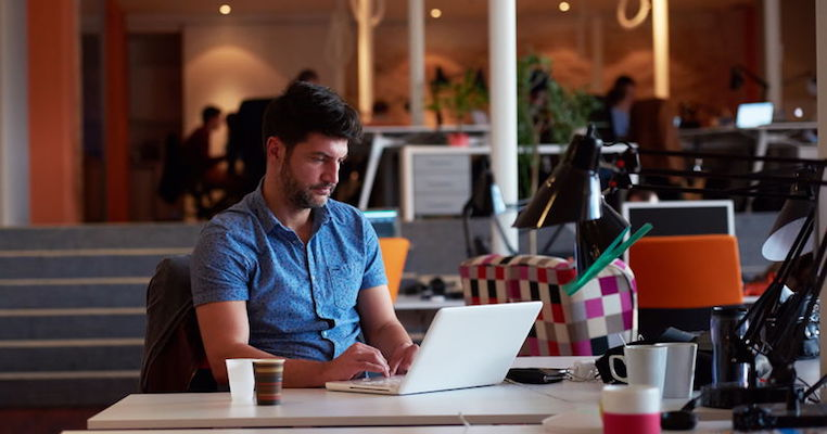 Product manager working at a desk
