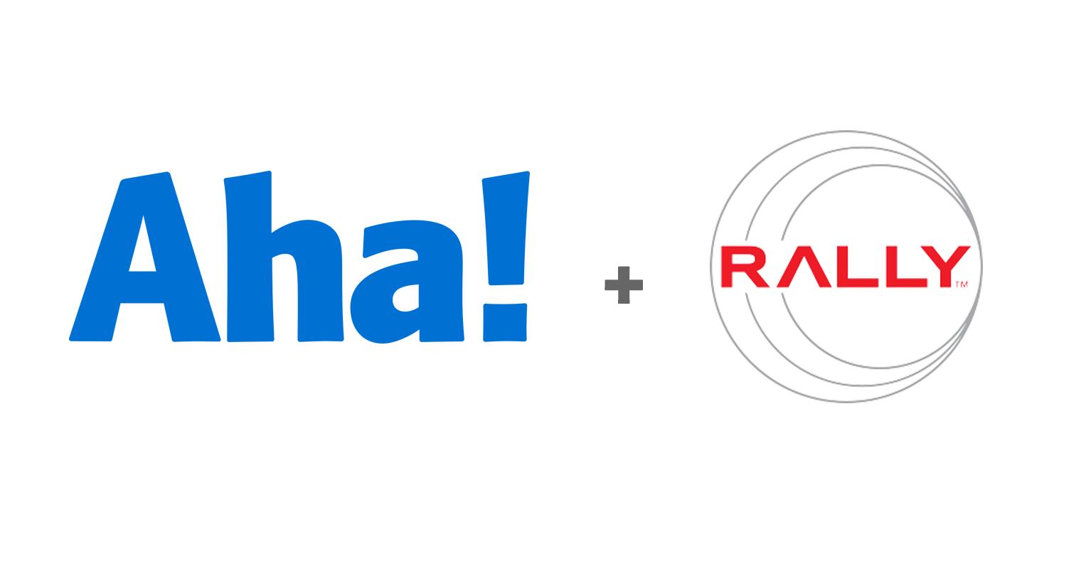 Aha! and Rally logos