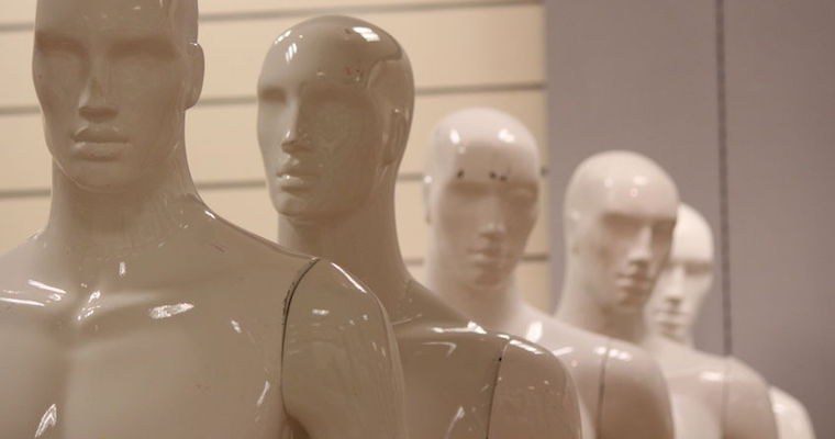 row of mannequins